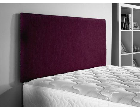 ValuFurniture Chenille Fabric Headboard - Aubergine - Small Double 4ft