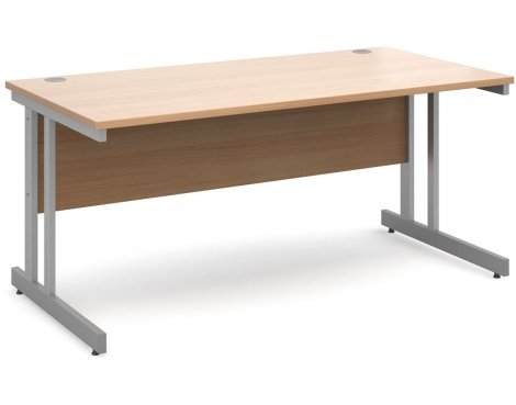 DSK Momento 1600mm Straight Desk - Beech