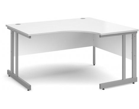 DSK Momento 1400mm Right Hand Ergonomic Desk - White