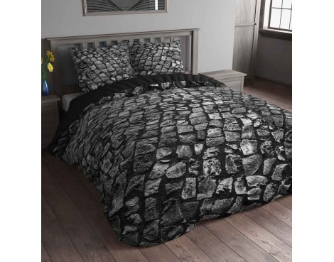 Sleep Time Stone Road Duvet Cover Set - Anthracite - King 5ft