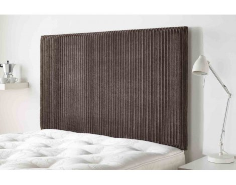 Aspire Furniture Lightmoor Headboard in Loumaire Corded Fabric - Chocolate - King 5ft