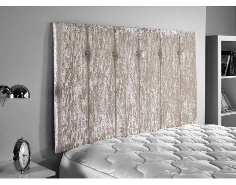ValuFurniture Jubilee Velvet Fabric Headboard - Cream - Super King 6ft