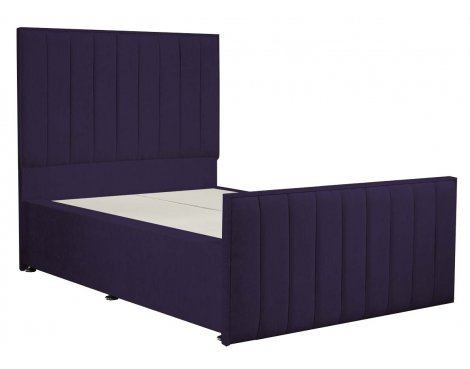 Luxan Hampstead Dun Colours Bed Frame - Purple - Double 4ft6 - 2 Drawers