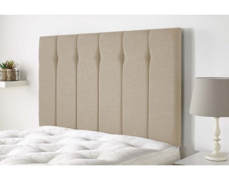 Aspire Furniture Amberley Headboard in Malham Weave Fabric - Sand - Double 4ft6