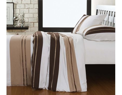 Fancy Embroidery London Duvet Cover Set - Taupe - Double 4ft6