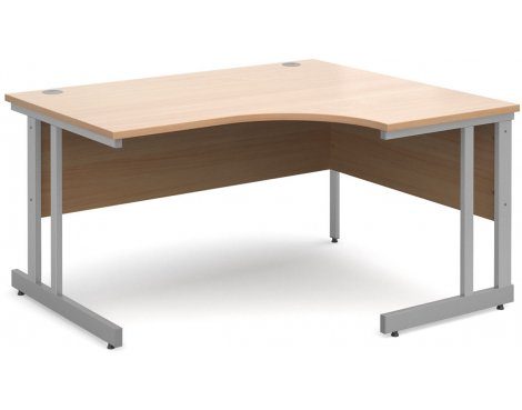 DSK Momento 1400mm Right Hand Ergonomic Desk - Beech