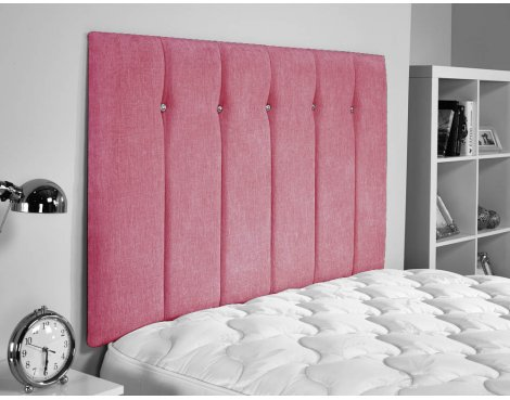 ValuFurniture Jubilee Chenille Fabric Headboard - Pink - Small Double 4ft