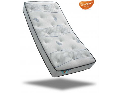 Sareer Cool Blue Pocket Memory Mattress - Medium/Firm - Small Single 2ft6