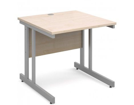 DSK Momento 800mm Straight Desk - Maple