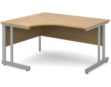 DSK Momento 1400mm Left Hand Ergonomic Desk - Light Oak