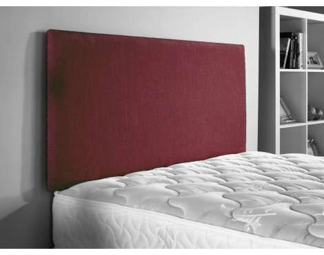 ValuFurniture Doll Chenille Fabric Headboard - Raspberry - Small Double 4ft