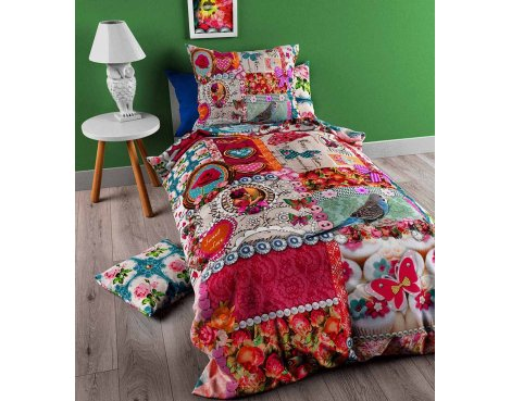 So Cute Joy Duvet Cover Cover For Kids - Multicoloured - Single 3ft