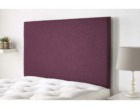 Aspire Furniture Derwent Headboard in Malham Weave Fabric - Fushcia - Super King 6ft