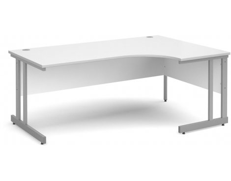 DSK Momento 1800mm Right Hand Ergonomic Desk - White