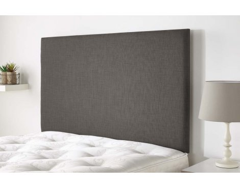 Aspire Furniture Derwent Headboard in Malham Weave Fabric - Slate - Double 4ft6
