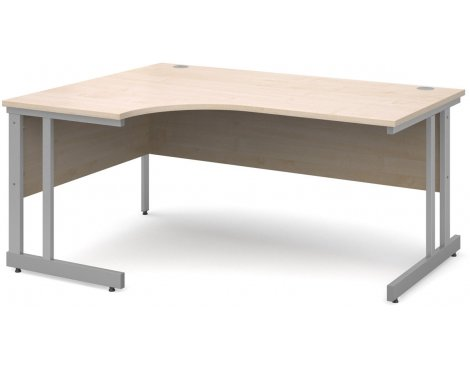 DSK Momento 1600mm Left Hand Ergonomic Desk - Maple