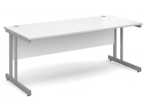 DSK Momento 1800mm Straight Desk - White