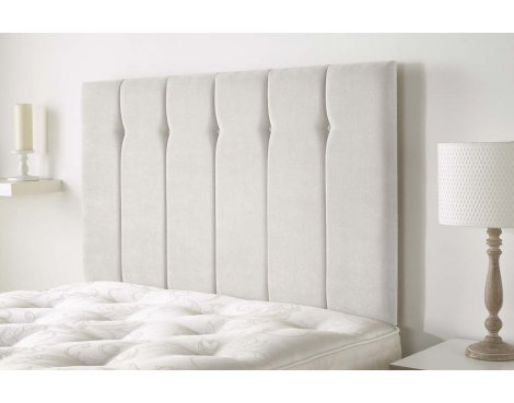 Aspire Furniture Portmoor Headboard in Katsuro Linen Fabric - Angora - Small Double 4ft