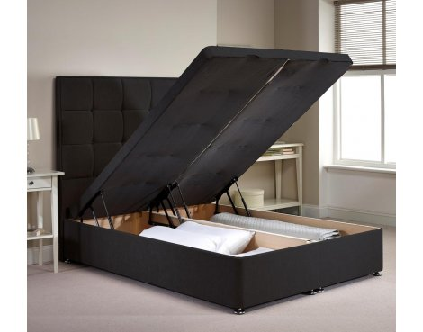 Appian Ottoman Divan Bed Frame - Charcoal Chenille Fabric - Small Single - 2ft 6
