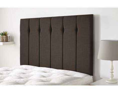 Aspire Furniture Amberley Headboard in Malham Weave Fabric - Coffee - Small Double 4ft