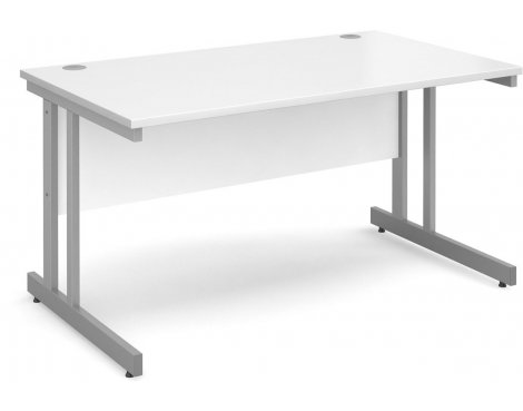 DSK Momento 1400mm Straight Desk - White