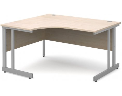 DSK Momento 1400mm Left Hand Ergonomic Desk - Maple
