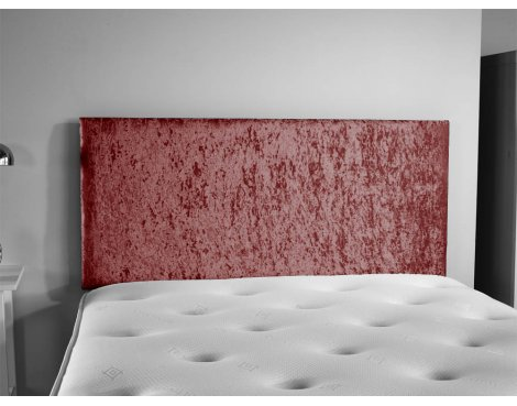 ValuFurniture Doll Velvet Fabric Headboard - Mulberry - Double 4ft6