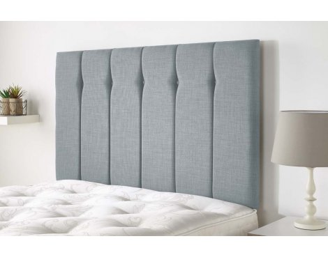 Aspire Furniture Amberley Headboard in Malham Weave Fabric - Sky - Double 4ft6