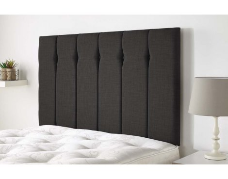 Aspire Furniture Amberley Headboard in Malham Weave Fabric - Grey - Double 4ft6