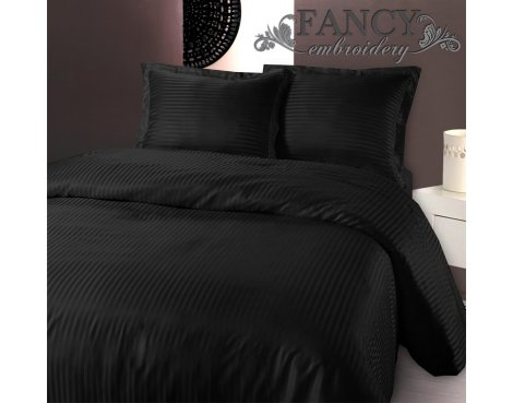 Fancy Embroidery Dallas Duvet Cover Set - Black - Single 3ft