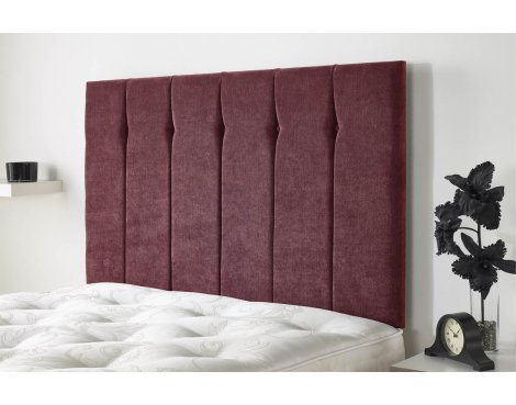 Aspire Furniture Portmoor Headboard in Katsuro Linen Fabric - Bordeuax - Small Double 4ft