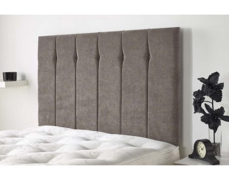 Aspire Furniture Portmoor Headboard in Katsuro Linen Fabric - Taupe - King 5ft