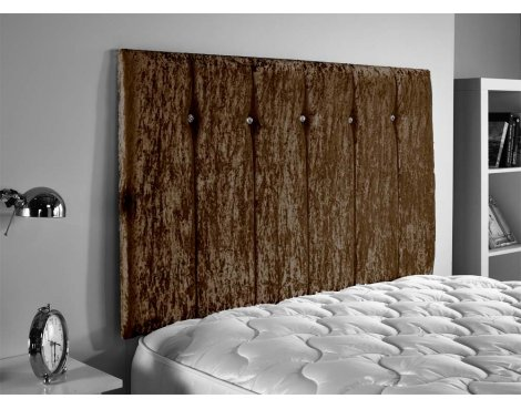 ValuFurniture Jubilee Velvet Fabric Headboard - Brown - Small Double 4ft