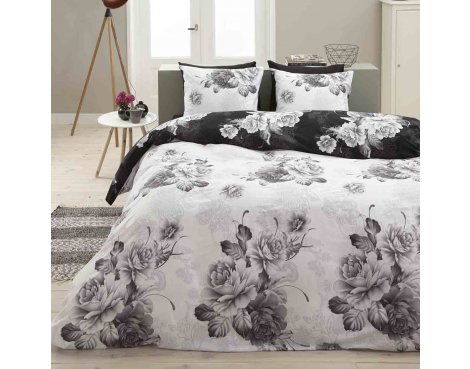 Primaviera Deluxe SL 50 Hayley Duvet Cover Set - White - Double 4ft6