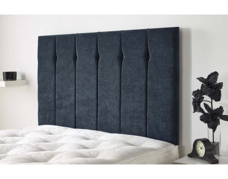 Aspire Furniture Portmoor Headboard in Katsuro Linen Fabric - Marine - Double 4ft6