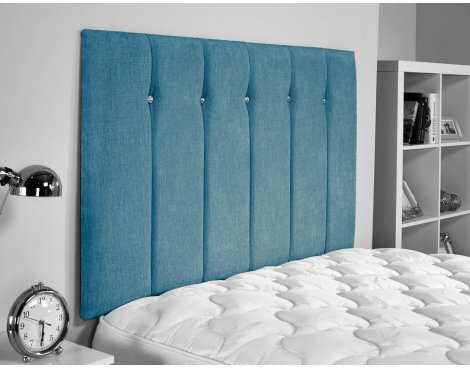 ValuFurniture Jubilee Chenille Fabric Headboard - Teal - Super King 6ft