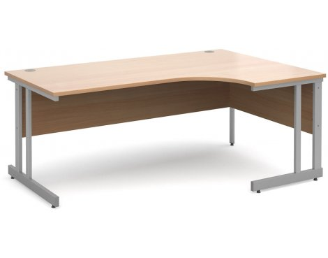 DSK Momento 1800mm Right Hand Ergonomic Desk - Beech