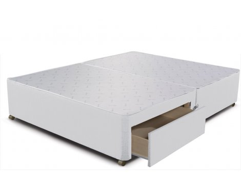 Sleepeezee Divan Base - 2 Drawer - White - Single 3ft