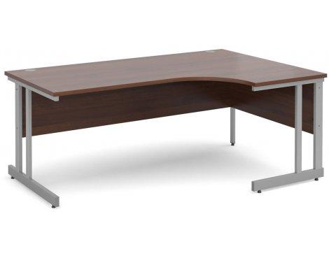 DSK Momento 1800mm Right Hand Ergonomic Desk - Walnut