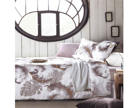 Primaviera Deluxe SL 46 Chloe Duvet Cover Set - Beige - King 5ft