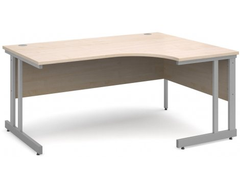 DSK Momento 1600mm Right Hand Ergonomic Desk - Maple