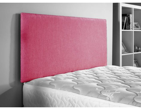 ValuFurniture Doll Chenille Fabric Headboard - Pink - Double 4ft6