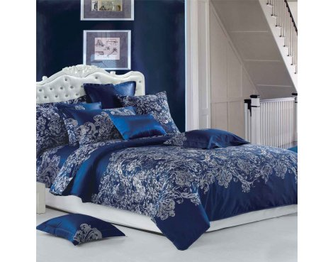 Primaviera Deluxe SL 52 Jailey Duvet Cover Set - Blue - King 5ft