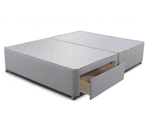 Sleepeezee Divan Base - 2 Drawer - Slate - Single 3ft