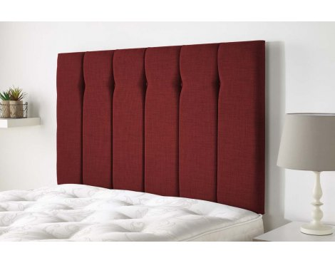 Aspire Furniture Amberley Headboard in Malham Weave Fabric - Ruby - King 5ft