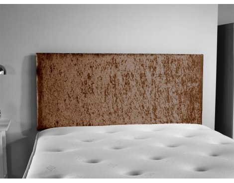 ValuFurniture Doll Velvet Fabric Headboard - Truffle - Small Double 4ft