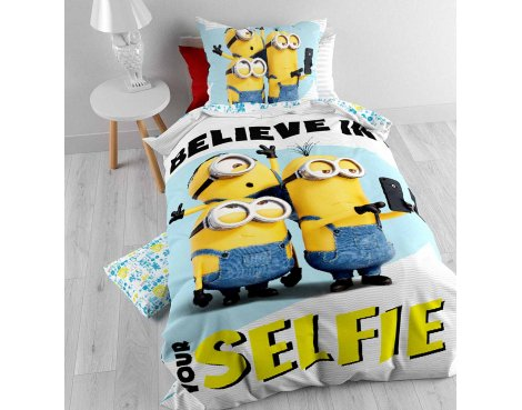 Universal Minions Selfie Duvet Cover Set For Kids - Multicoloured - Single 3ft