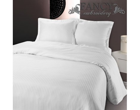 Fancy Embroidery Dallas Duvet Cover Set - White - King 5ft