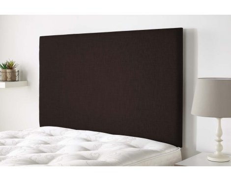 Aspire Furniture Derwent Headboard in Malham Weave Fabric - Sandle Wood - Double 4ft6