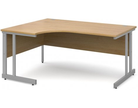 DSK Momento 1600mm Left Hand Ergonomic Desk - Light Oak